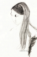 Girl with long black hair